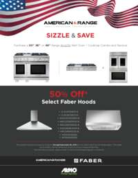 American Range - 50% Select Hood Offer (up to $850 value)