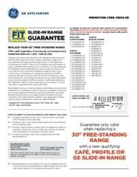 GE - Slide-in Range Fit Guarantee