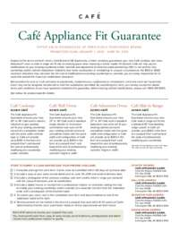 Cafe Appliance Fit Guarantee