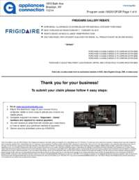 Frigidaire - February Rebate (up to $1050 value)