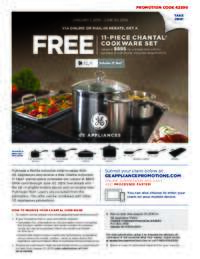 GE - Chantal Cookware Set Offer (up to $895 value)