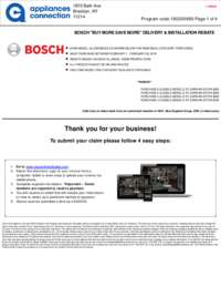 Bosch - February Rebate with Bonus Up To $600