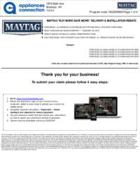 Maytag - February Rebate with Bonus Up To $700