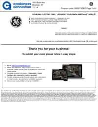 GE Cafe - February Rebate
