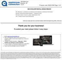 NECO Multibrand Dishwasher Rebate ($75 value)