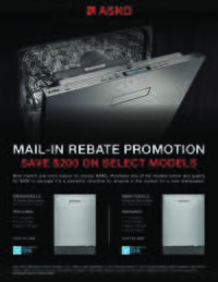 ASKO - Pocket Handle Dishwasher Promotion ($200 value)