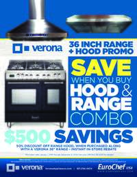 Verona - Range plus Hood Promotion ($500 value)