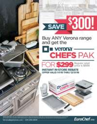 Verona - Chefs Pak Promotion ($300 value)