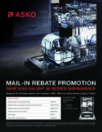Asko - Save $150 on any 30 Series Dishwasher