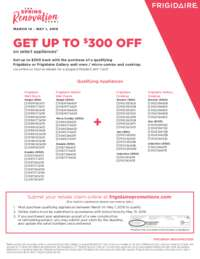 Frigidaire - The Spring Renovation Event (up to $300 off)