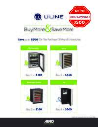 U-Line - Buy More and Save More Offer (up to $500 value)
