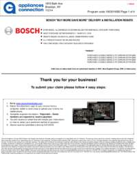 Bosch - March Rebate with Bonus Up To $600
