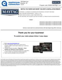 Maytag - March Rebate with Bonus Up To $700