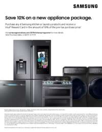 Samsung - 10% OFF on a new appliance package