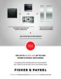 Fisher Paykel - Up To $2600 OFF on Kitchen Packages