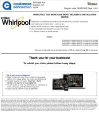 Whirlpool - April Rebate Up to $700 Off