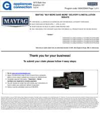 Maytag - April Rebate with Bonus Up To $700