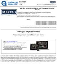 Maytag - April Rebate with Bonus Up To $700