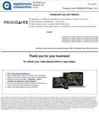 Frigidaire - April Rebate (up to $1050 value)