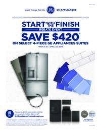 GE - Start with the Finish Rebate Event ($420 value)