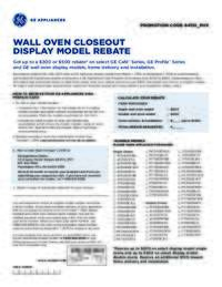 GE - Wall Oven Closeout Model Rebate (up to $500 value)