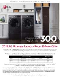 LG - Ultimate Laundry Room Rebate Offer (up to $300 value)