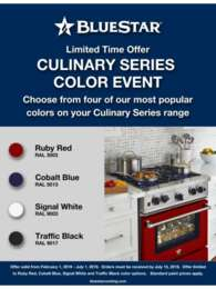 BlueStar - Culinary Series Color Event