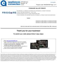 Frigidaire - May Rebate (up to $1050 value)
