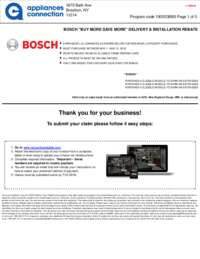 Bosch - May Rebate with Bonus Up To $600