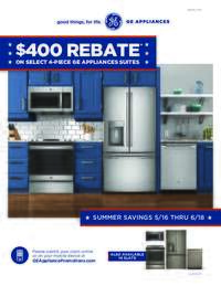 GE - Summer Savings Rebate ($400 value)