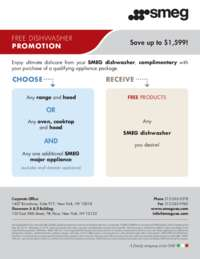 SMEG - Free Dishwasher Promotion (up to $1599 value)
