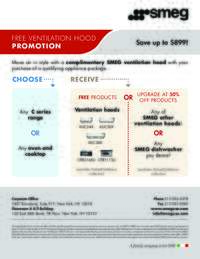 SMEG - Free Ventilation Hood Promotion (up to $899 value)