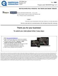 Whirlpool/Maytag Free Pedestal Rebate ($250 value)