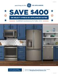 GE - Summer Savings Promotion (up to $400 value)