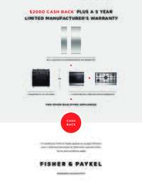 Fisher Paykel - $2000 Cash Back Promotion