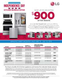 LG - Independence Day Kitchen Bundle Offer (up to $900 value)