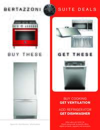 Bertazzoni - Suite Deals Promotion (up to 2 FREE appliances)