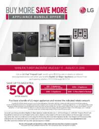 LG - Buy More Save More Kitchen Bundle Offer (up to $500 value)