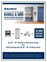 BlueStar - Bundle and Save for the Ultimate Pro Kitchen ($1000 value)