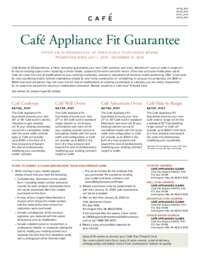 Cafe Appliance Fit Guarantee (up to $300 value)