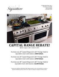 Capital Range Instant Rebate (up to $1000 value)