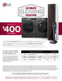 LG - Ultimate Cleaning Solution (up to $400 value)