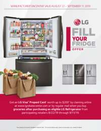 LG - Fill Your Fridge Offer (up to $200 value)