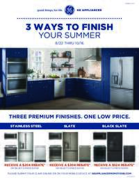 GE - Three Ways To Finish Your Summer (up to $524 value)