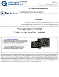 Electrolux - Laundry Rebate ($100 value)