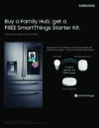 Samsung - Family Hub SmartThings Offer ($99 value)