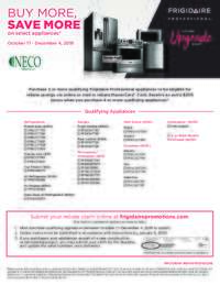 Frigidaire Professional - Buy More Save More Event (up to $1000 value)