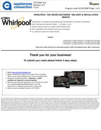 Whirlpool - October Rebate Up to $700 Off