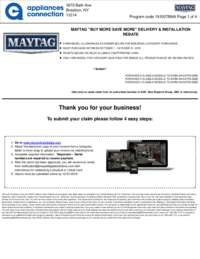 Maytag - October Rebate with Bonus Up To $800