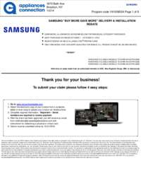Samsung - October Rebate with Bonus Up To $750